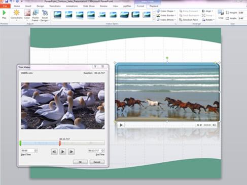 Редактирование видео в Office Professional Plus