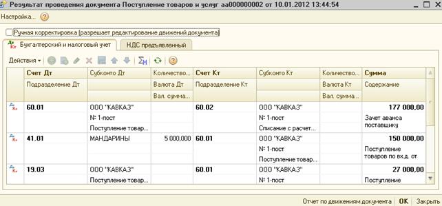 Бухгалтерские и налоговые проводки при учете товаров с 1С Бухгалтерия