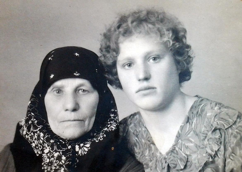 Евдокия Степеновна Ерошина с мамой Ксенией
